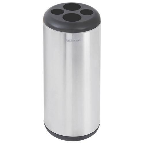 Lixeira Porta Copos 31 Litros em Aço Inox 94540046 Tramontina