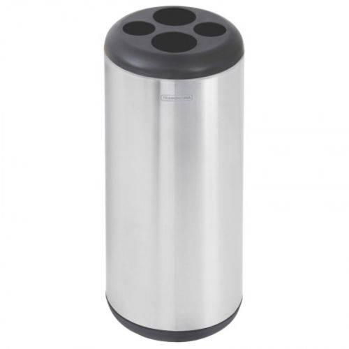 Lixeira Porta Copos em Aço Inox 31 Litros Tramontina 94540/046
