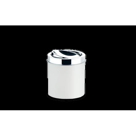 Lixeira PP com Tampa Basculante Ø 18,5 X 20 Cm Branco Brinox