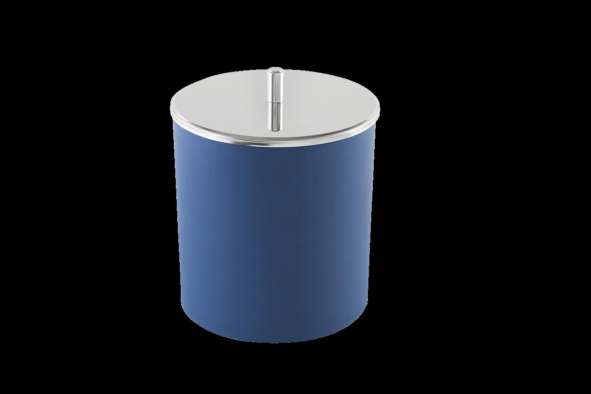 Lixeira PP com Tampa Inox Ø 18,5x23 Cm Azul Brinox