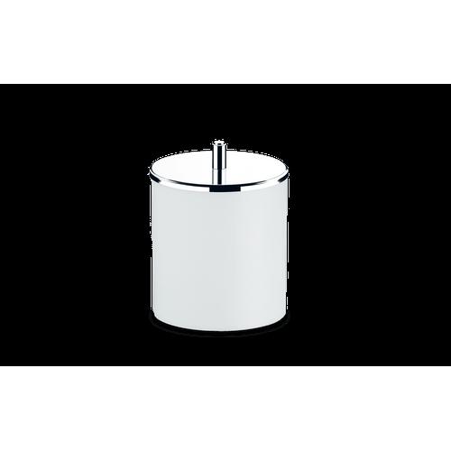 Lixeira PP com Tampa Inox Ø 18,5x23 Cm Branco