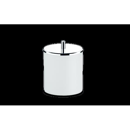 Lixeira PP Tampa Inox Ø 18,5 X 23 Cm Branco Brinox