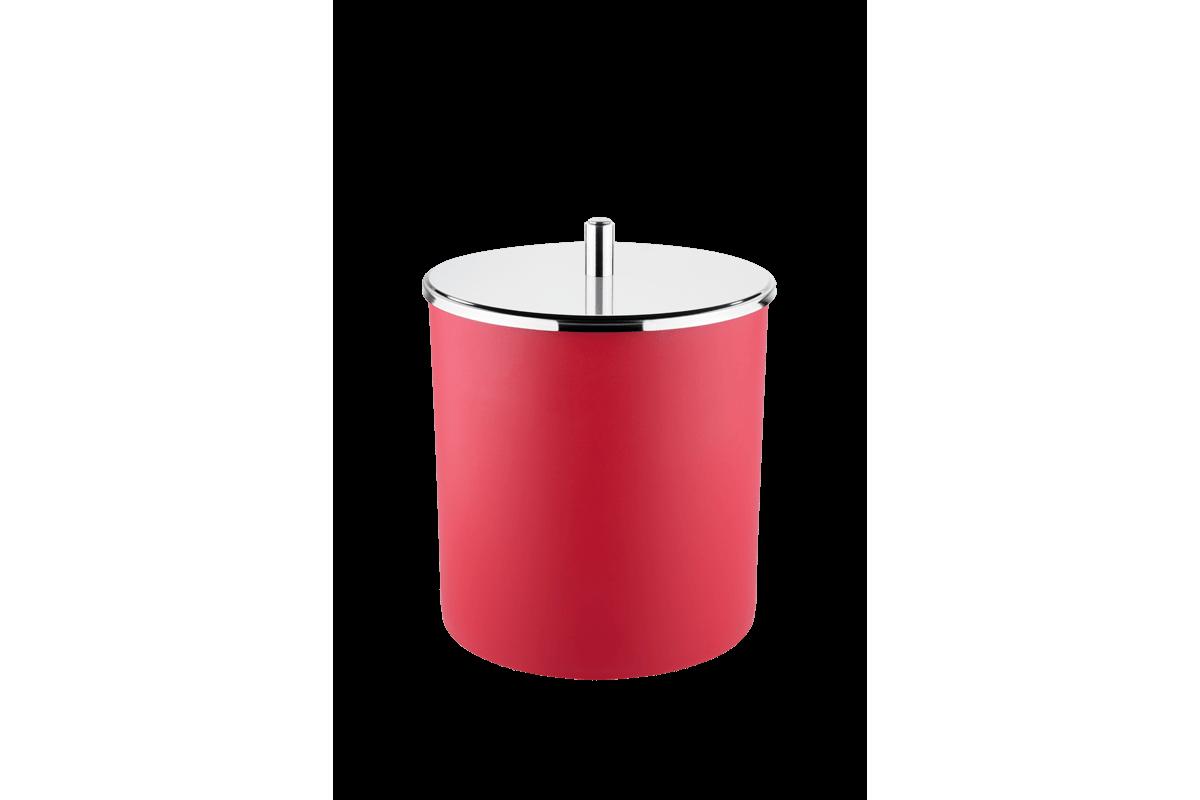 Lixeira PP Tampa Inox Ø 18,5x23 Cm Vermelho Brinox