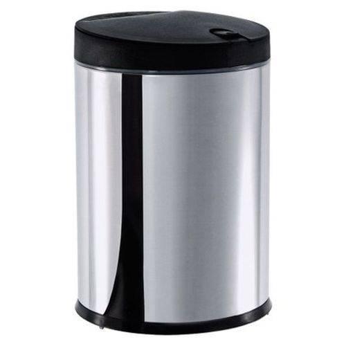 Lixeira Press Aço Inox 4 Litros Preta 3050/252 Brinox