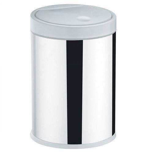 Lixeira Press Brinox 4 Litros Aço Inox com Tampa em Polipropileno 3050202