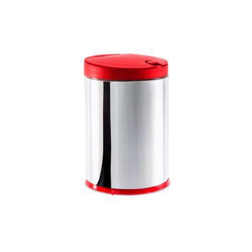 Lixeira Press Inox com Tampa 4 L Ø 17 X 25 Cm - 4 L Brinox