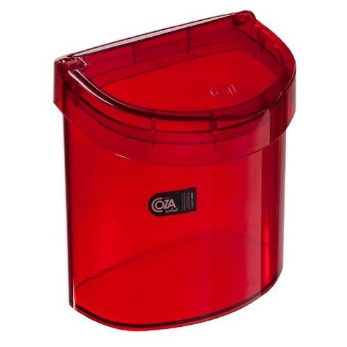 Lixeira Retrô para Pia 2,7 Litros Vermelha