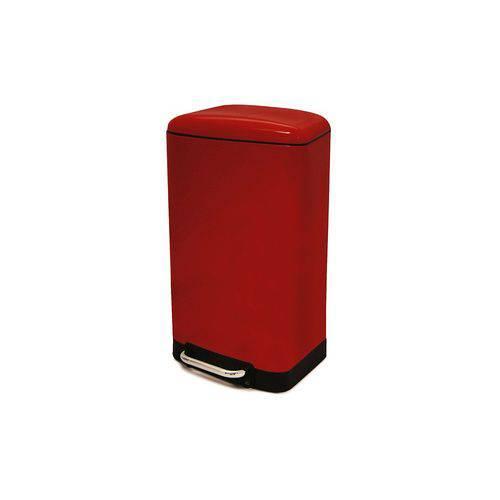 Lixeira Week Modern Vermelha 30L C/ Pedal 8107010076