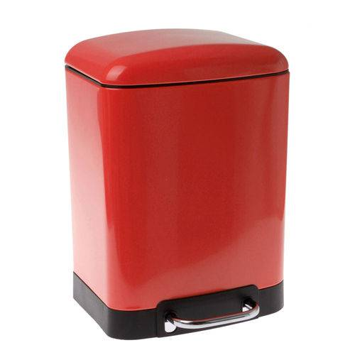 Lixeira Week Modern Vermelha 6L C/ Pedal 8107010073