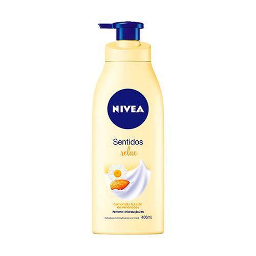 Loção Creme Desodorante Nívea Body Sentidos Relax 400ml