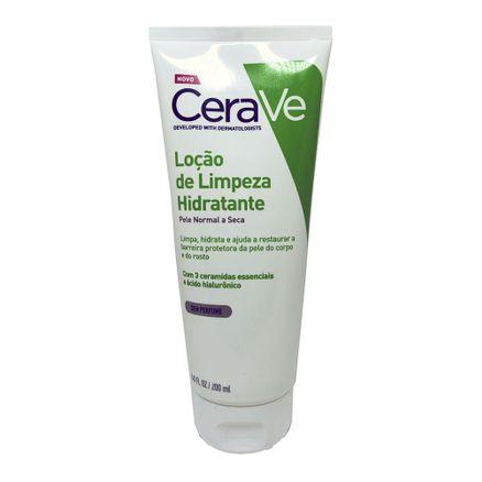 Loção de Limpeza Hidratante CeraVe Pele Normal a Seca Sem Perfume 200ml