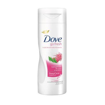 Loção Hidratante Dove Go Fresh Romã e Verbena 200ml
