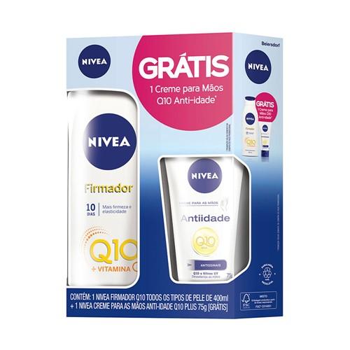 Loção Nivea Firmador Q10 Vitamina C 400ml + Grátis 1 Creme para Mãos Q10 Antiidade 75g