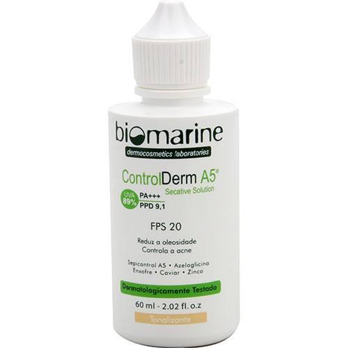 Loção Secativa Tonalizante Biomarine Control Derm A5 FPS 20 60ml