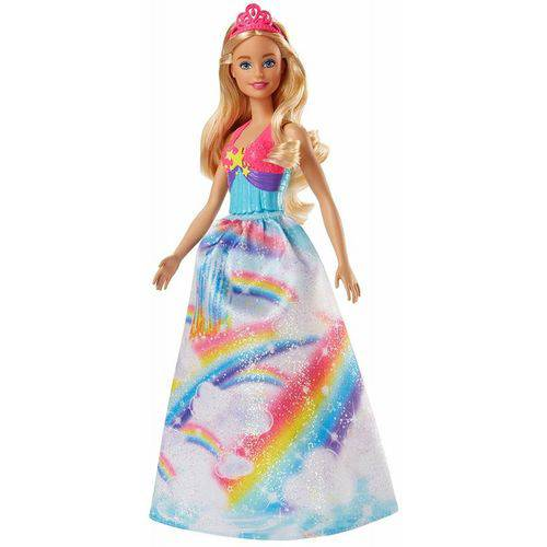 Loira Arco Íris Princesa Barbie - Mattel FJC95