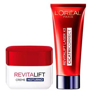 L'Oréal Paris Revitalift Laser X3 + Revitalift Noite Kit - Creme Antirrugas + Rejuvenescedor Facial Kit