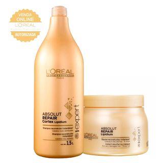 L'Oréal Professionnel Absolut Repair Pós Química Kit - Shampoo 1,5L + Máscara 500g Kit