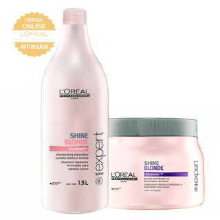 L'Oréal Professionnel Shine Blonde Kit - Shampoo 1,5L + Máscara 500g Kit