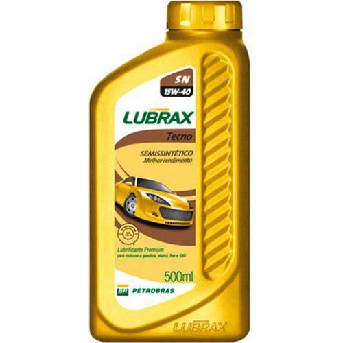 Lubrax 15w40 Tecno Sn Semi Sintético 500ml