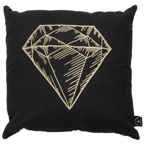 Lucky Diamante Almofada 45cm Preto/ouro