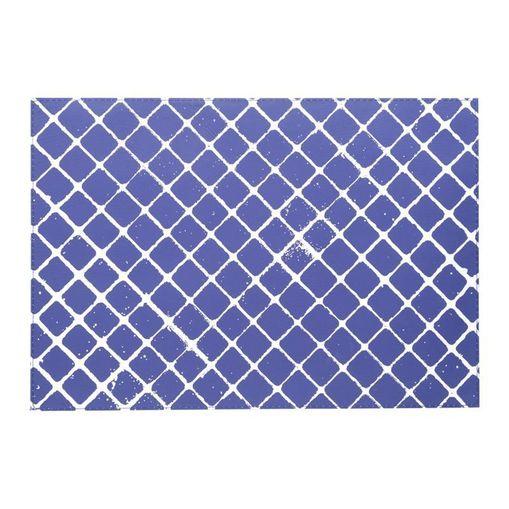 Lugar Americano Azul e Branco 43x30cm Losango 6631 Lyor