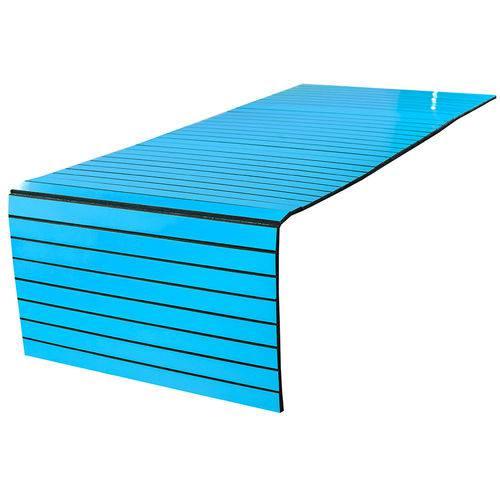 Lugar Americano para Pufe - 35x100 Cm - Laminado Azul