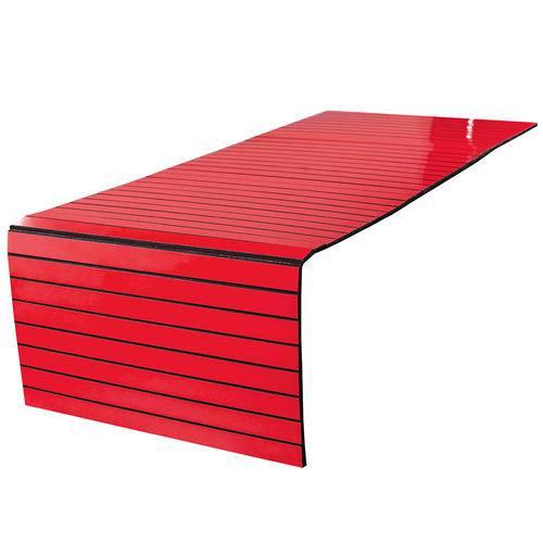 Lugar Americano para Pufe - 35x100 Cm - Laminado Vermelho