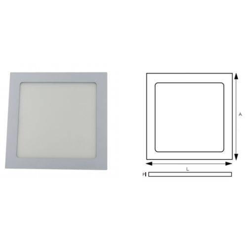 Luminaria de Embutir Quadrada RG Led 18w 6500k Bivolt