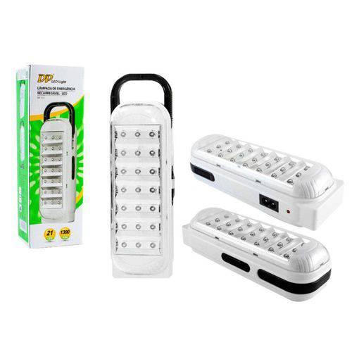 Luminaria de Emergencia Recarregavel 21 LEDs Dp-713
