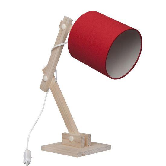 Luminaria de Mesa Articulada Chevron Vermelha