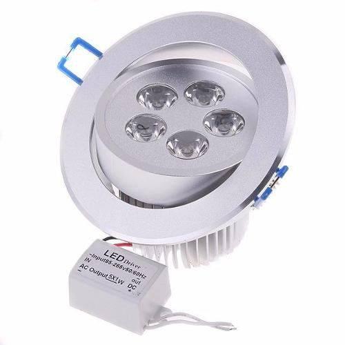 Luminária Embutir Spot 5 Leds Inclinável Branco Frio 5w