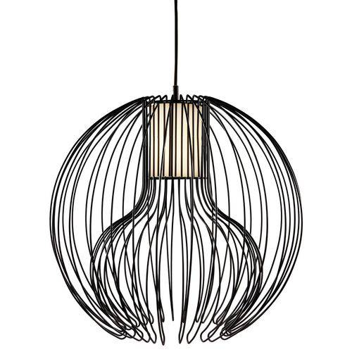 Luminária Lustre Pendente 60,5x59,5x60,5cm Metal Preto