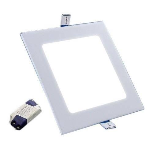 Luminária Painel Led Plafon de Embutir Quadrado 12w Branco Frio