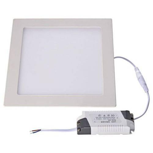 Luminária Painel Led Plafon de Embutir Quadrado 6w Branco Frio