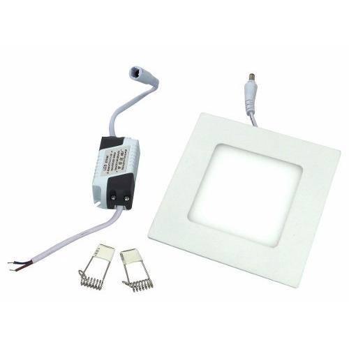 Luminária Painel Led Plafon de Embutir Quadrado 3w Branco Frio