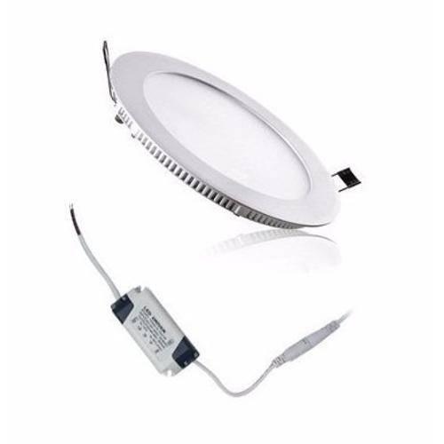 Luminária Painel Led Plafon de Embutir Redondo 18w Branco Frio