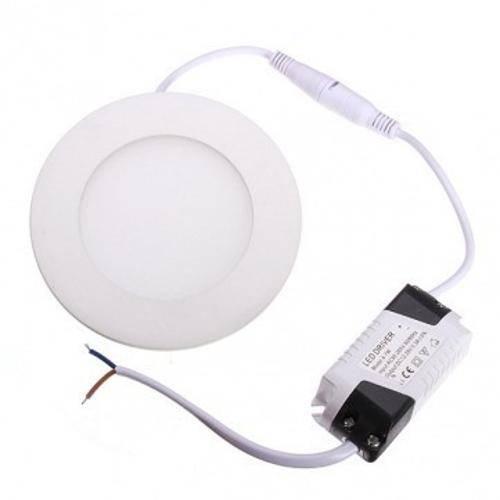 Luminária Painel Led Plafon de Embutir Redondo 3w Branco Frio