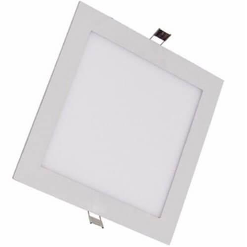 Luminária Painel Plafon Led 18w Embutir Quadrado Faz 3 Tons