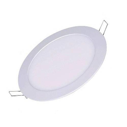 Luminária Painel Plafon Led Embutir Redondo 18w Branco Frio