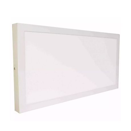 Luminária Painel Plafon Smart Led 36w Sobrepor 60cm X 30cm Branco Quente