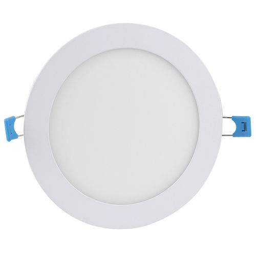 Luminaria Plafon 12w Led Embutir Redonda Branco Frio