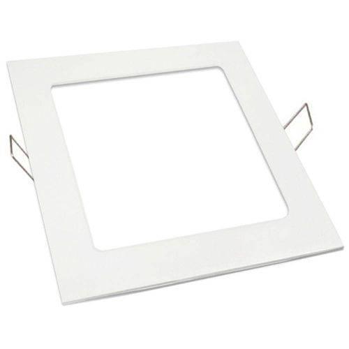 Luminária Plafon Led 25w Embutir Quadrado Branco Frio