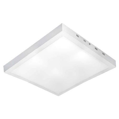 Luminária Plafon Led de Sobrepor 36w Quadrado 40x40 Branco Frio