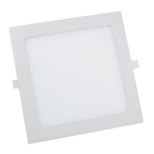 Luminária Plafon Painel Led 18w Quadrado Embutir Branco Quente