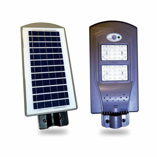 Luminária Pública Poste Solar Led 40w com Sensor