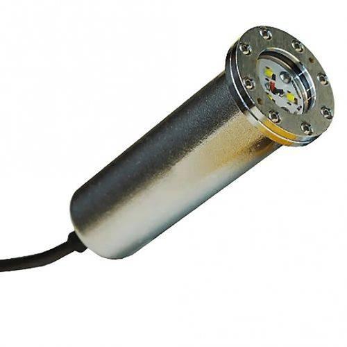 Luminária Sodramar Hiper Led 9w Latão Branco Cabo 1,5m