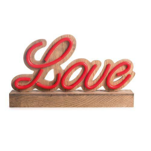 Luminoso Decoração Natal Love C/led 20x35cm Vermelho