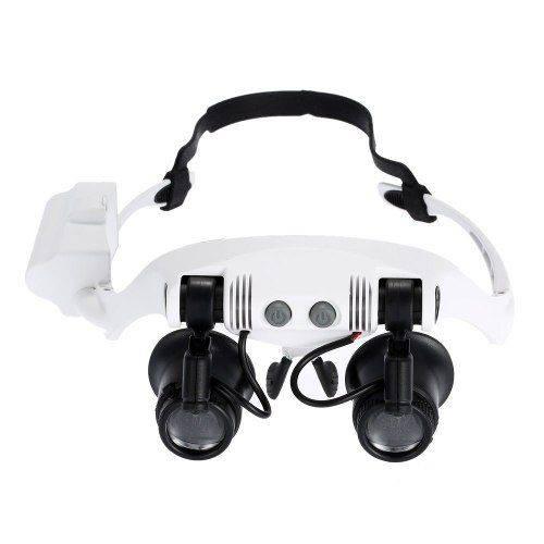 Lupa Óculos 4 Lente Profissional Ourives Relógio Eletrônica