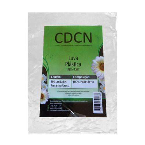 Luva Plastica Descartavel com 100 Unidades Cdcn