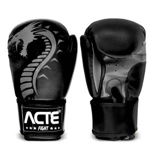 Luvas de Boxe Dragon P3 Acte Sports - Preto 12oz
